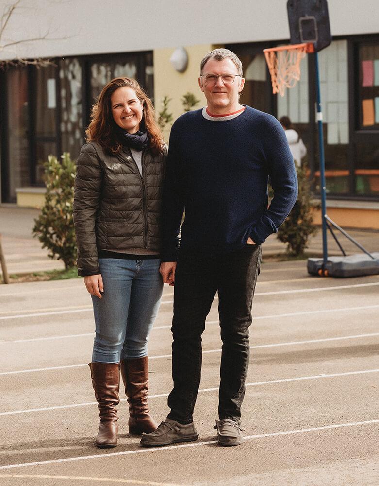 Sandrine and Christopher Bevan